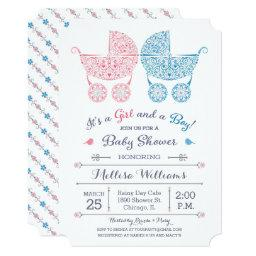 It's a Girl and a Boy! Twins  Invite