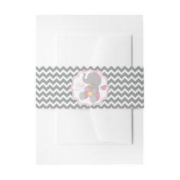It's a Girl Elephant Belly Band for Invites
