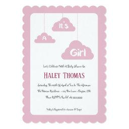 It's A Girl – Pink Baby Shower Invitations