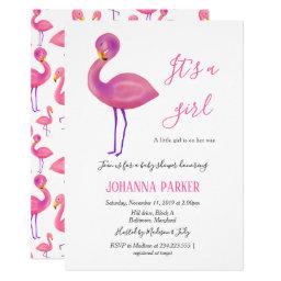 Its A Girl | Pink Flamingo | Baby Shower