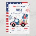 July 4th Baby Shower Baby-q Baby Shower July Bbq Invitation