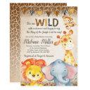 Jungle Baby Shower Invitations, Boy Elephant Baby Invitations