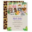 Jungle Baby Shower Invitations - Girl Baby Shower