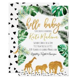 Jungle Baby Shower  Gold Animals