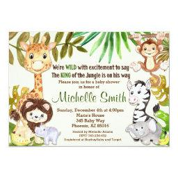Jungle Baby Shower Invitations, Safari Invitations