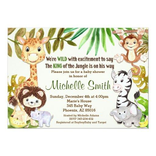 Lion Baby Shower Invitations
