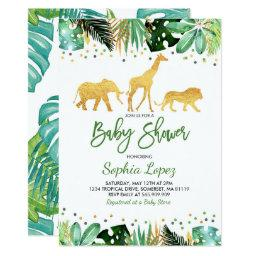 Jungle Baby Shower Invitations Tropical Baby Shower