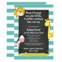 Jungle Boy Animal Chalkboard Baby Shower Invitation