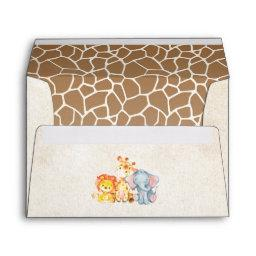 Jungle Elephant Baby Shower Envelopes