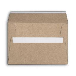 Kraft Style Wedding Envelope