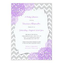 Lavender Dahlia  invites / purple grey