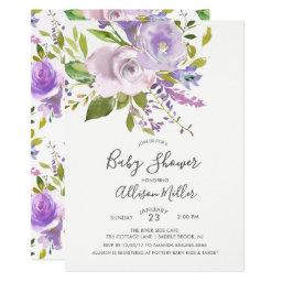 Lavender Floral Baby Shower