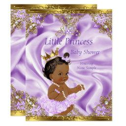 Lavender Gold Princess Baby Shower Ethnic Girl
