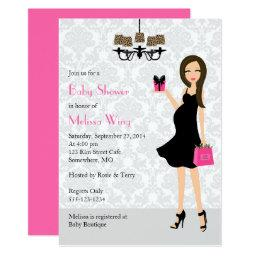 Leopard Hot Pink Pregnant Mom Baby Shower