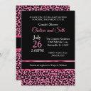 Leopard Pink Pattern| Pink | Baby Girl Shower 🤰 Invitation