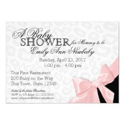 Leopard Spots and Pink Ribbon Baby Shower