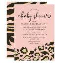 Leopard Spots & Tiger Stripes Baby Shower Invitation