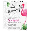 Let's Flamingle Baby Shower Invitations