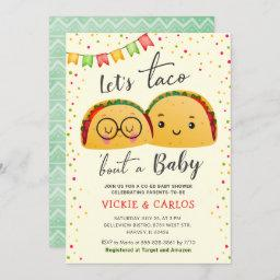Let's Taco Bout A Baby Co-ed Fiesta Baby Shower Invitation