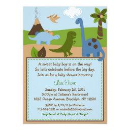 Lil Dino Dinosaur Baby Boy Baby Shower