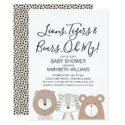 Lions Tigers & Bears Animal Baby Shower Party