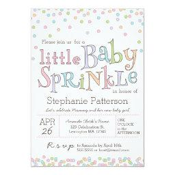 Little Baby Sprinkle Confetti Shower
