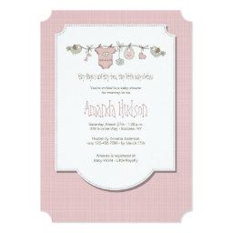 Little Birds Clothesline Invitations