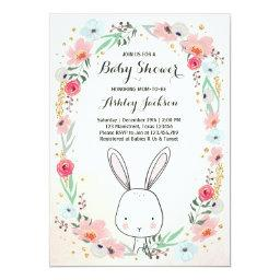 Little Bunny Baby Shower  Floral Girl