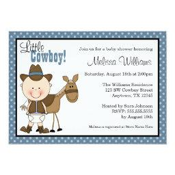 Little Cowboy Polka Dots Baby Shower