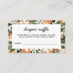 Little Cutie Baby Shower Diaper Raffle Tickets Enclosure Card