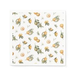 Little Cutie Orange Napkins