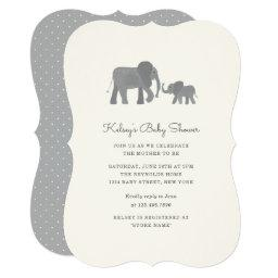Little Elephant Baby Shower Invite