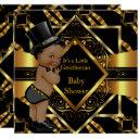 Little Gentleman Baby Shower Gold Black Ethnic