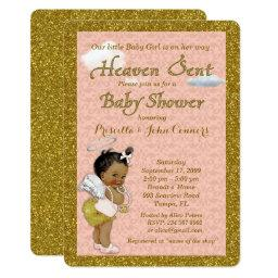Little Girl Baby Shower ,pink, gold