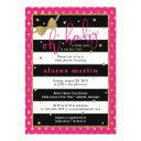 Little Lady Baby Shower Invitation, Faux Gold Invitation