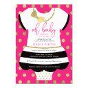 Little Lady Baby Shower Invite, Faux Glitter/foil Invitation