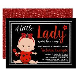 Little Lady Ladybug Baby Girl Baby Shower Invitation
