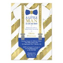 Little Man  , Blue, Faux Gold
