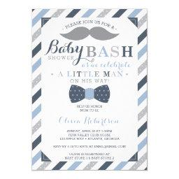 Little Man Baby Shower , Blue, Gray