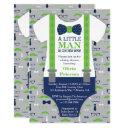 Little Man Baby Shower , Blue, Green