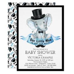 Little Man Baby Shower  Dapper Elephant
