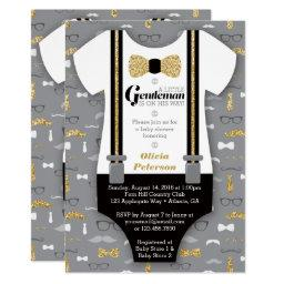 Little Man Baby Shower , Faux Glitter