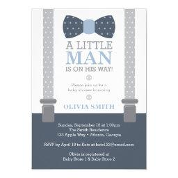Little Man Baby Shower , Navy Blue, Gray