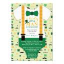 Little Man Baby Shower Invitations, St Patricks Day Invitations