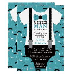 Little Man Baby Shower , Teal, Black