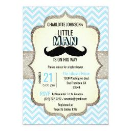 Little Man is on His Way | Mustache Baby Shower