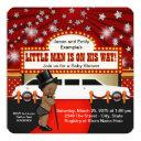 Little Man Limousine Movie Star Ethnic Baby Shower Invitation