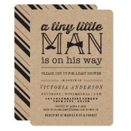 Little Man Mustache Bow Tie Boy  Invite