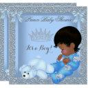 Little Prince Baby Shower Boy Blue Damask Am Invitations