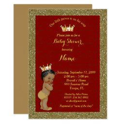 Little Prince Baby Shower ,gold, red